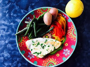 My mother Sarina's BBQ swordfish - by Carmela D'Amore